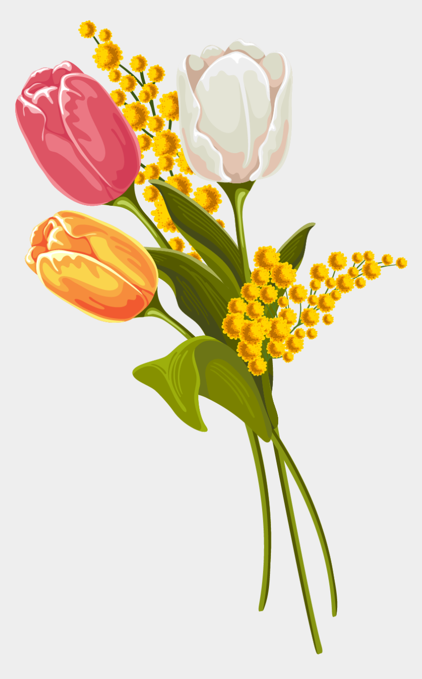 yellow tulip clipart, Cartoons - Tulip Clipart Vintage - Vintage Easter Tulip Clipart