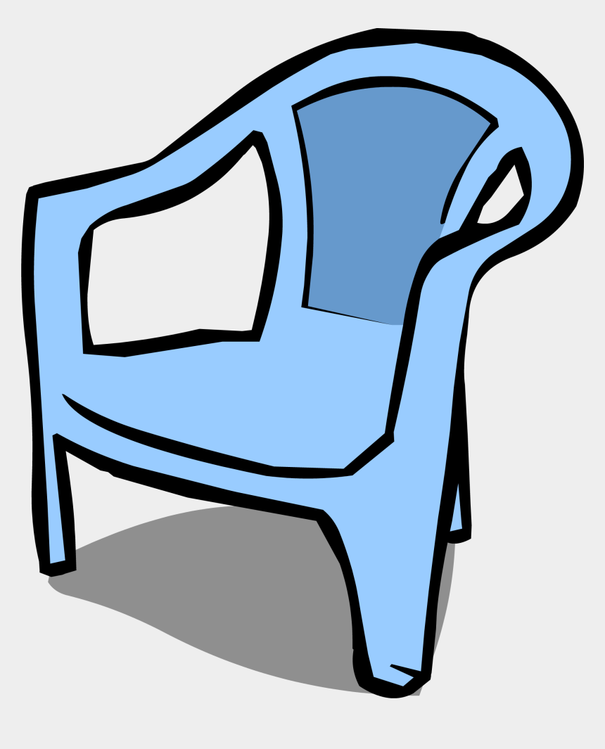 comfy chair clipart, Cartoons - Furniture Clipart Blue Chair - Plastic Chair Drawing Png