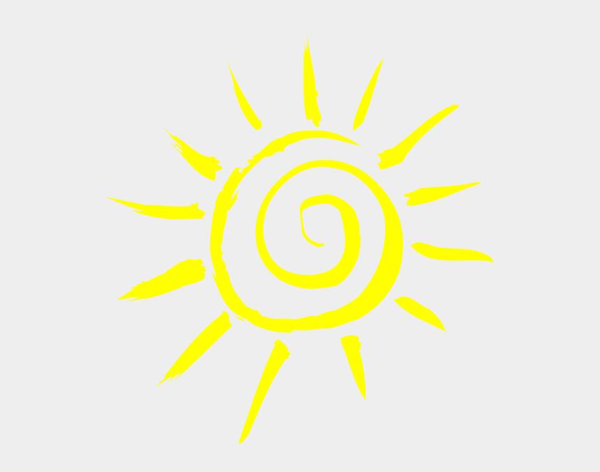 simple sun clipart, Cartoons - Simple Sun Yellow - Frases De Bom Dia Para Stories