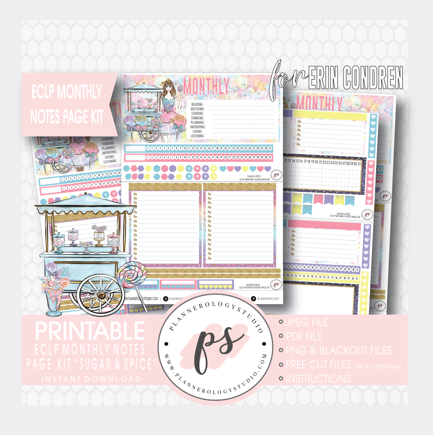 sugar and spice clipart, Cartoons - Sugar & Spice Monthly Notes Page Kit Digital Printable - Sticker