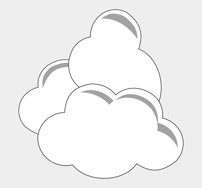 cumulus clouds clipart, Cartoons - Clouds White Three Climate Cumulus Weather - Clouds Clipart