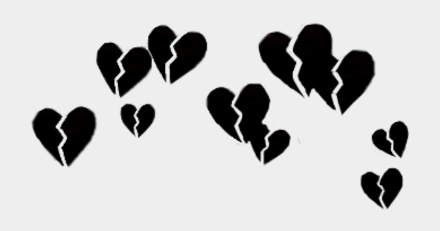 broken heart clipart black and white, Cartoons - Broken Heart Emoji Transparent