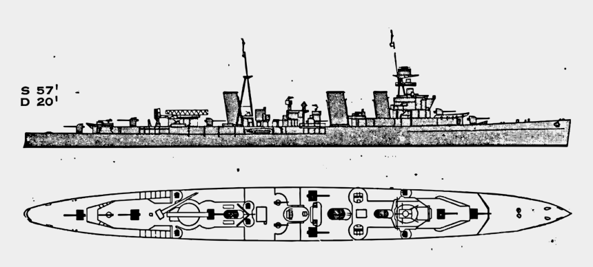 destroyer ship clipart, Cartoons - Heavy Cruiser Benham Class Destroyer Porter Class Destroyer - Benham Class Destroyer