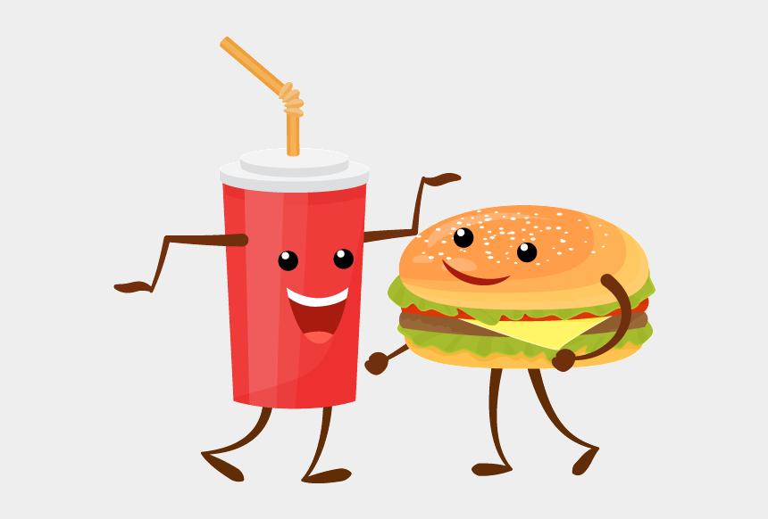 pizza and soda clipart, Cartoons - Soda And Burger - Illustration