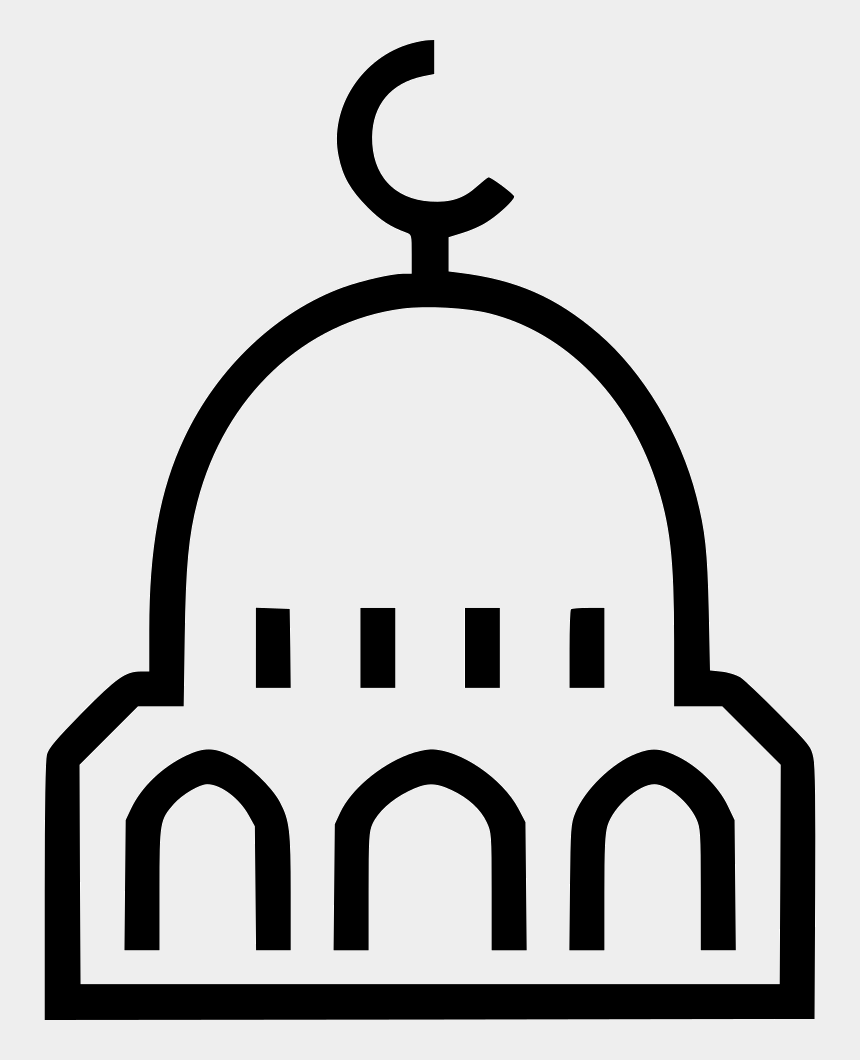 mosque clipart black and white, Cartoons - Mosque Clipart Artwork - Mosque Icon Png