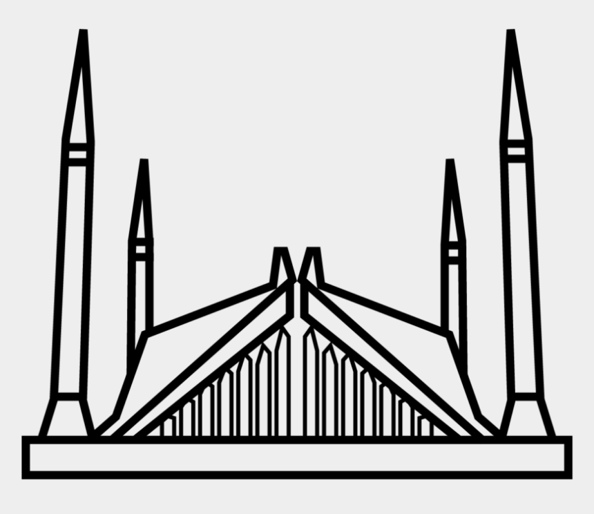 mosque clipart black and white, Cartoons - Islamabad Faisal Mosque - Faisal Mosque Png Logo