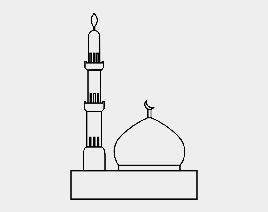 mosque clipart black and white, Cartoons - Mosque Rubber Stamp - Mosque