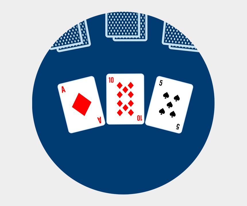 hand of playing cards clipart, Cartoons - Three Community Cards Are Dealt Face Up In The Centre - Poker