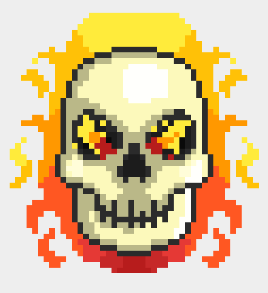 hamlet skull clipart, Cartoons - Cute Skull Pixel Art - Spaceship Pixel Art Png