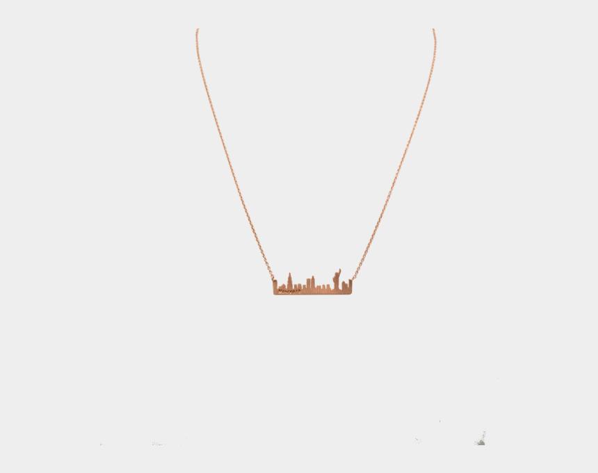 new york skyline clipart color, Cartoons - New York Skyline - Necklace