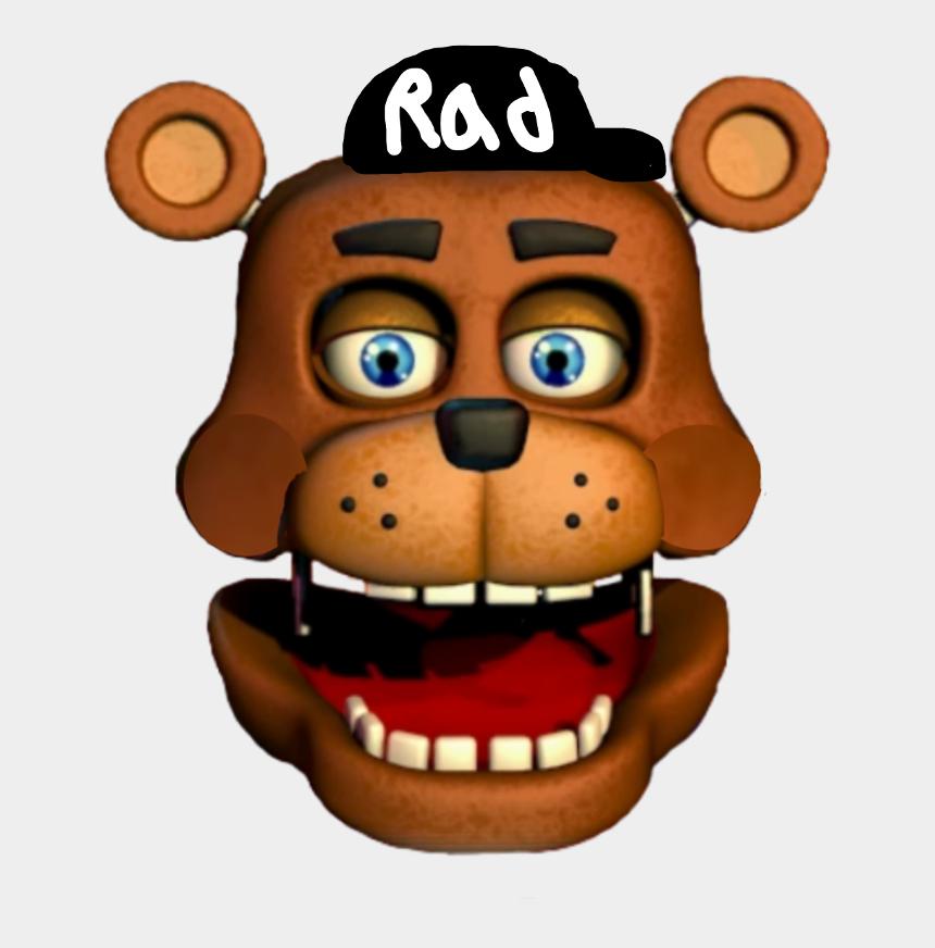 brother face clipart, Cartoons - #fnaf Cool Guy Head - Freddy Fazbear's Pizzeria Simulator Rockstar Freddy