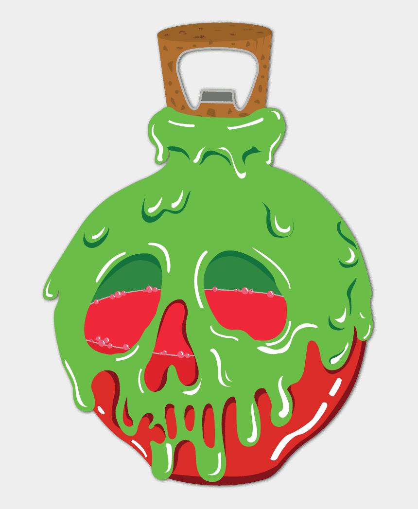 snow white mirror clipart, Cartoons - Poison Apple Bottle Opener - Green Poison Bottle Transparent