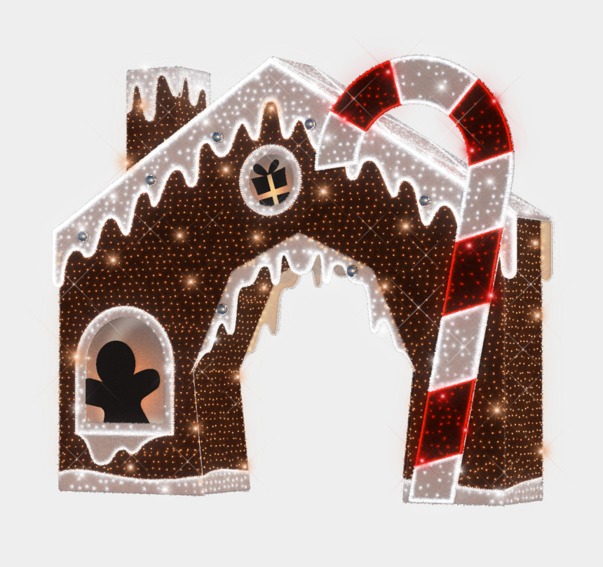 gingerbread house candy clipart, Cartoons - Illustration