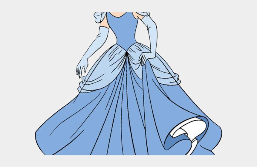 princess dress clipart black and white, Cartoons - Transparent Cinderella Clipart Png