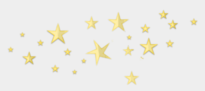 aesthetic clipart, Cartoons - Gold Glitter Stars Png