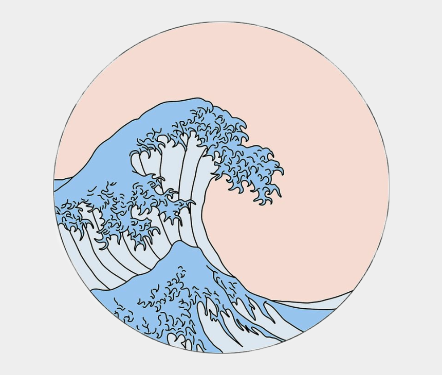 aesthetic clipart, Cartoons - Aesthetic Wave Drawing
