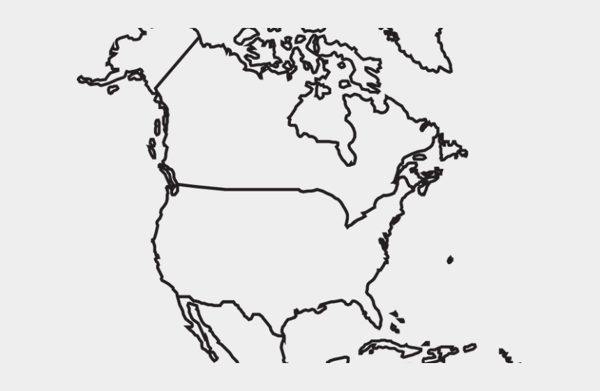 neighborhood map clipart, Cartoons - Drawn Map North America - Outline North America Map