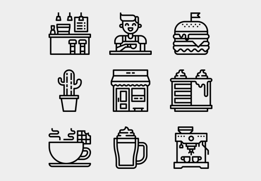 cafe building clipart, Cartoons - Cafe - Benefits Icon