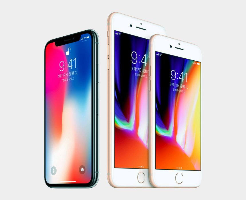iphone clipart transparent, Cartoons - Iphone 8 Or Iphone X