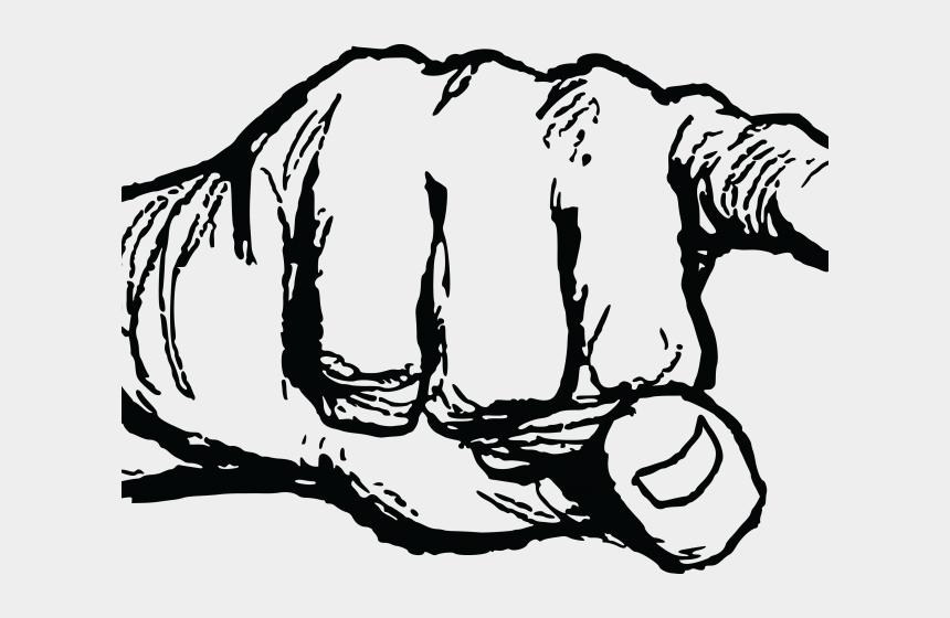 finger clipart black and white, Cartoons - Finger Clipart Pointed Finger - Finger Pointing Transparent