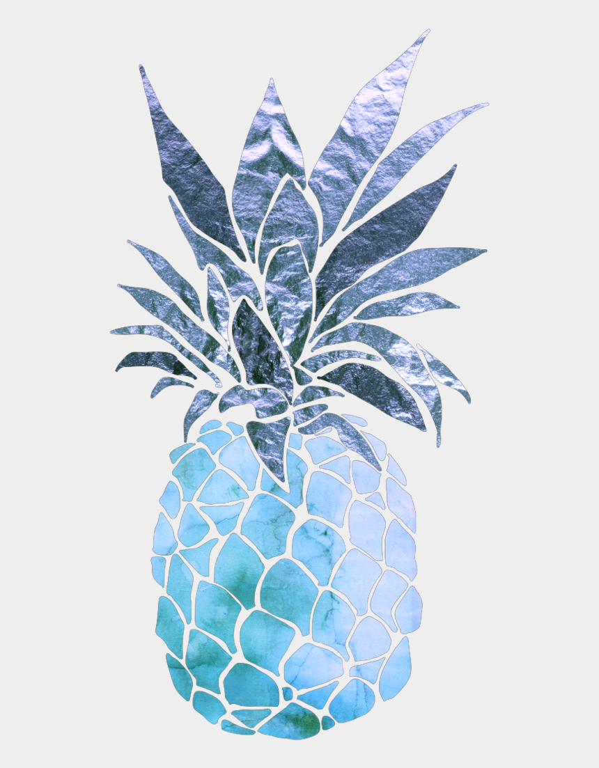 pineapple clipart outline, Cartoons - Blue Drawing Pineapple - Black Pineapple