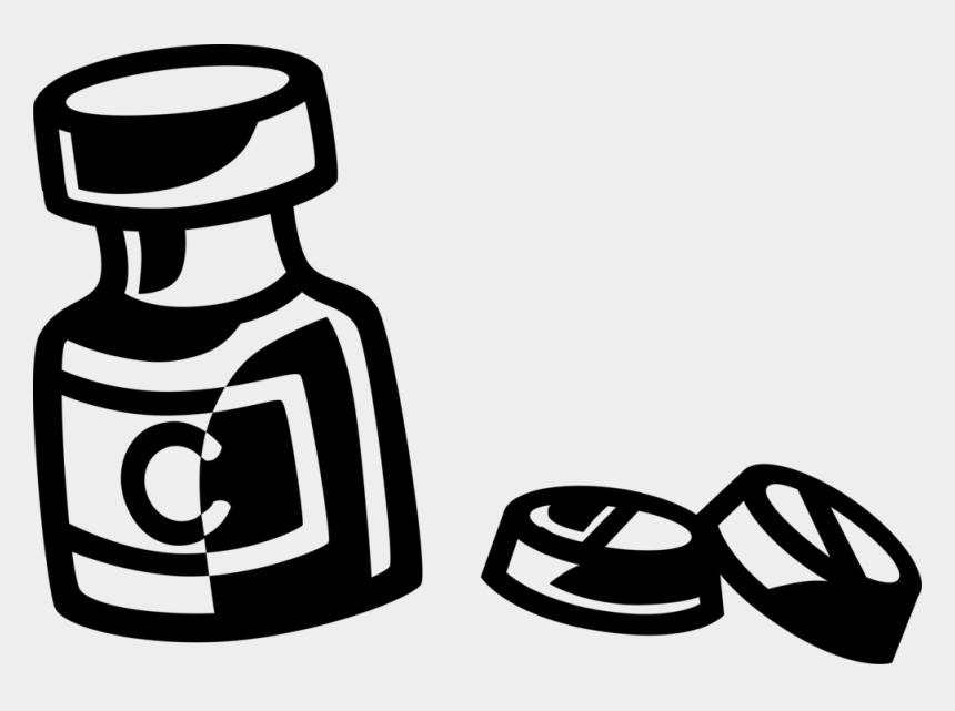 bottle of pills clipart, Cartoons - Vector Illustration Of Prescription Medicine Pill Bottle - Glass Bottle