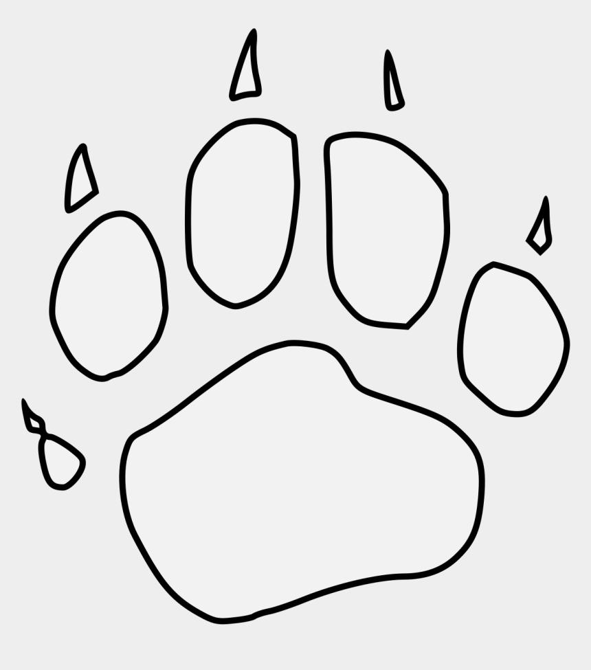 bear paw print clipart, Cartoons - Pawprint Svg Bear - Paw
