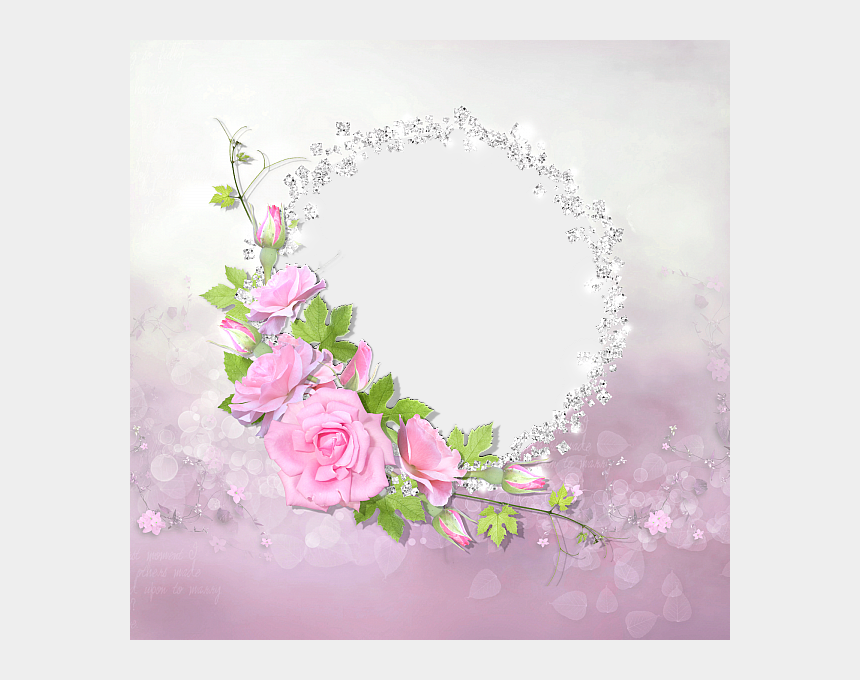 free clipart of diamonds, Cartoons - Frame Rose Pink With Transparent Frame With Diamonds - Roses Frames With Diamonds