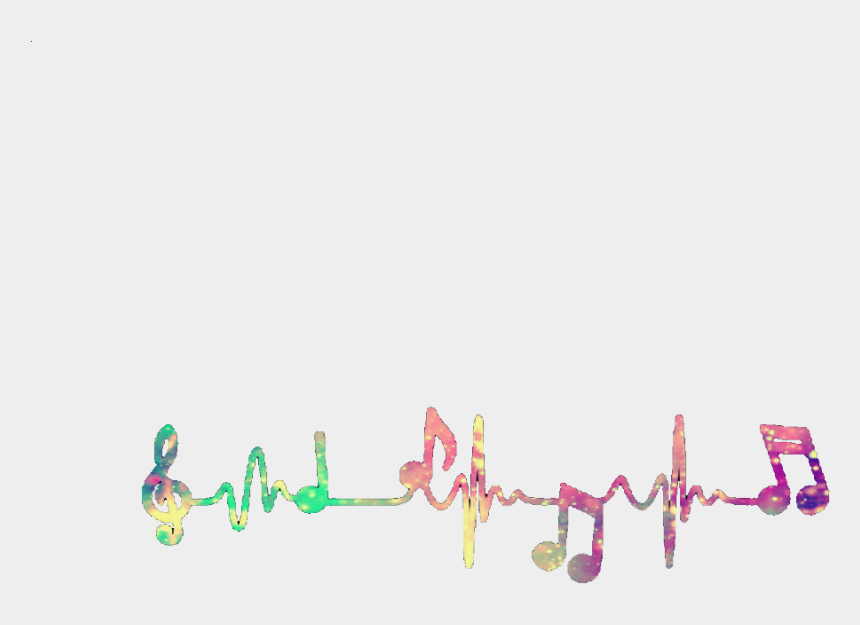 colorful musical notes clipart, Cartoons - Music Notes Colorful Png - Cute Music Notes Png