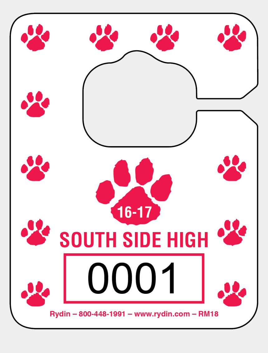 paw print border clipart, Cartoons - This Design Has A Custom Colored Paw Print Border - Illustration