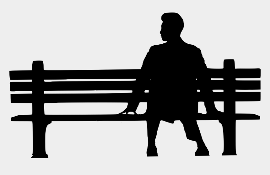 park bench clipart black and white, Cartoons - Forrest Gump Poster Hd