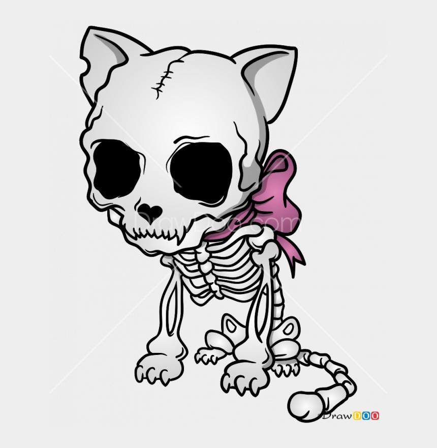 cartoon skull clipart, Cartoons - Skeletons Drawing Cartoon - Skeleton Cat Drawing