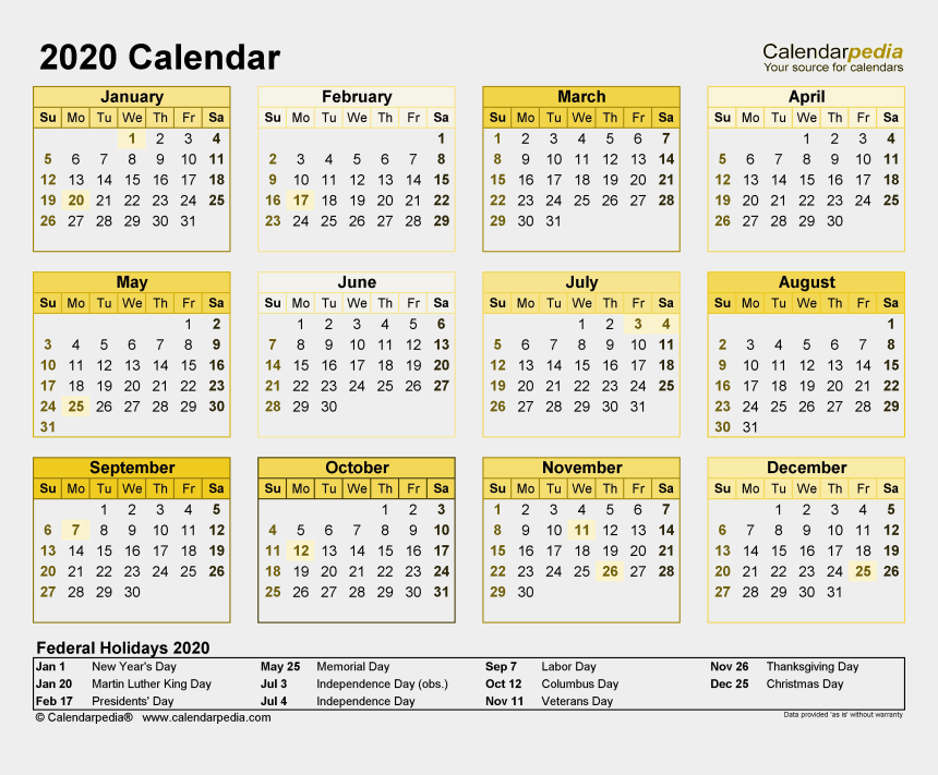 mark your calendar clipart free, Cartoons - 2020 Calendar Png Free Download - Calendar Federal Holidays 2019
