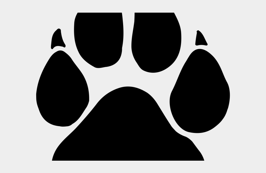 black and white paw print clipart, Cartoons - Black Panther Clipart Paw Print Real - Panther Paw Print Png