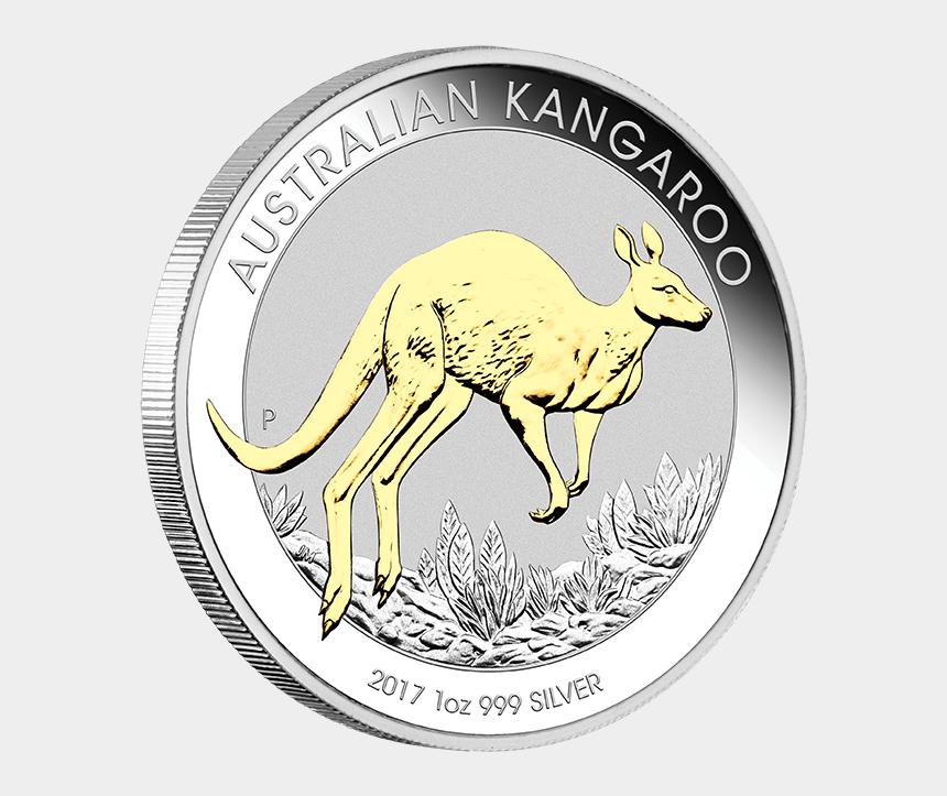 australian kangaroo clipart, Cartoons - 2017 1 Oz Pure Silver Coin - Australian Kangaroo Coin 2017