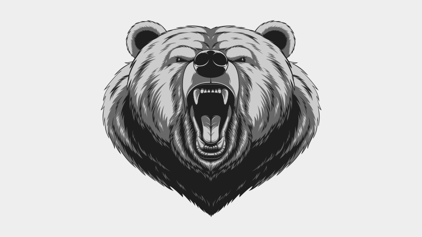 grizzly bear head clipart, Cartoons - Grizzly Drawing Angry - Bear Head Angry