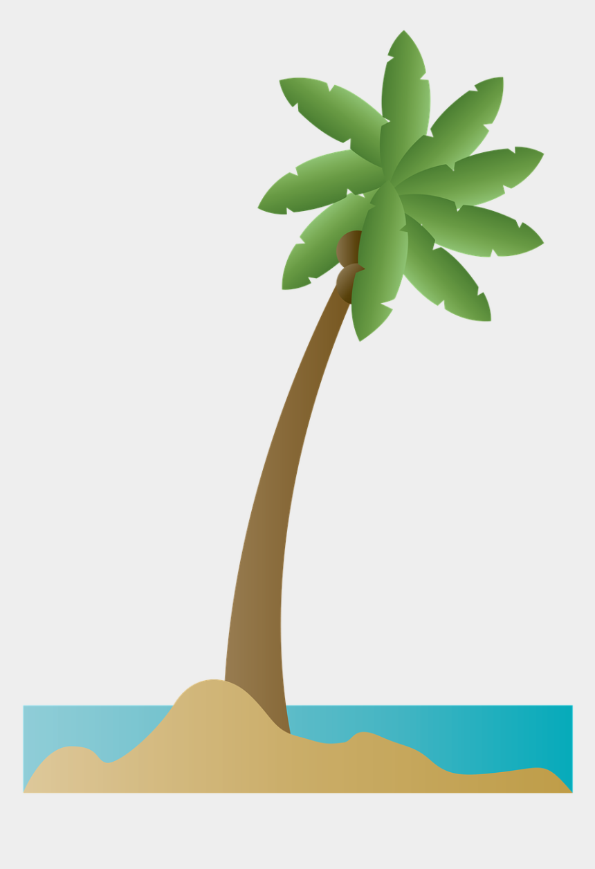 palm tree coconut clipart, Cartoons - Island, Palm Tree, Palm, Coconut, Beach, Summer - Playa Ilustracion Png