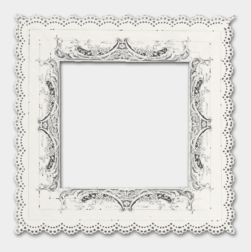 vintage frames clipart, Cartoons - Frame Clipart - Line Art