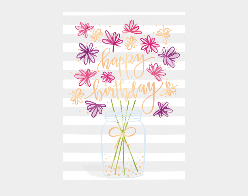 happy birthday flower clipart, Cartoons - Happy Birthday/bild1 - Illustration