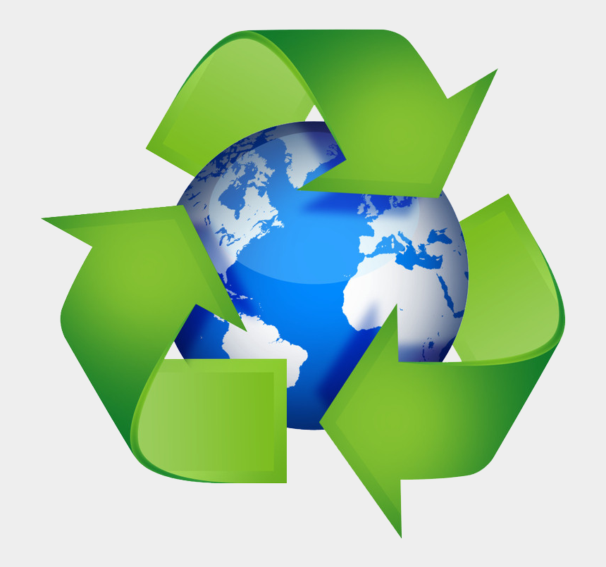 recycled clipart, Cartoons - Earth Clip Recycling - Earth Day Recyclable Symbol