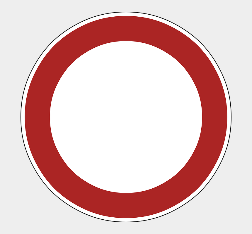 prohibited clipart, Cartoons - Prohibited Sign 5, Buy Clip Art - Round Logo Template Png
