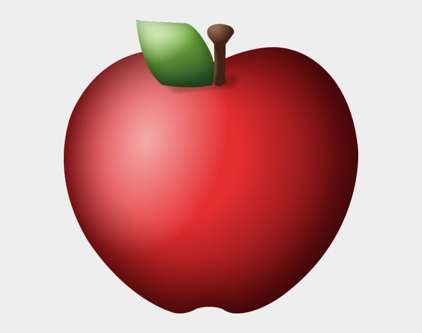 red apple outline clipart, Cartoons - Red Apple Images - Transparent Background Apple Emoji