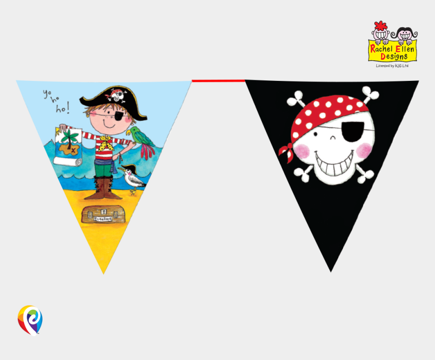 finish line flags clipart, Cartoons - Jolly Roger Flag Clipart Bunting - Pirate Theme Stickers Png