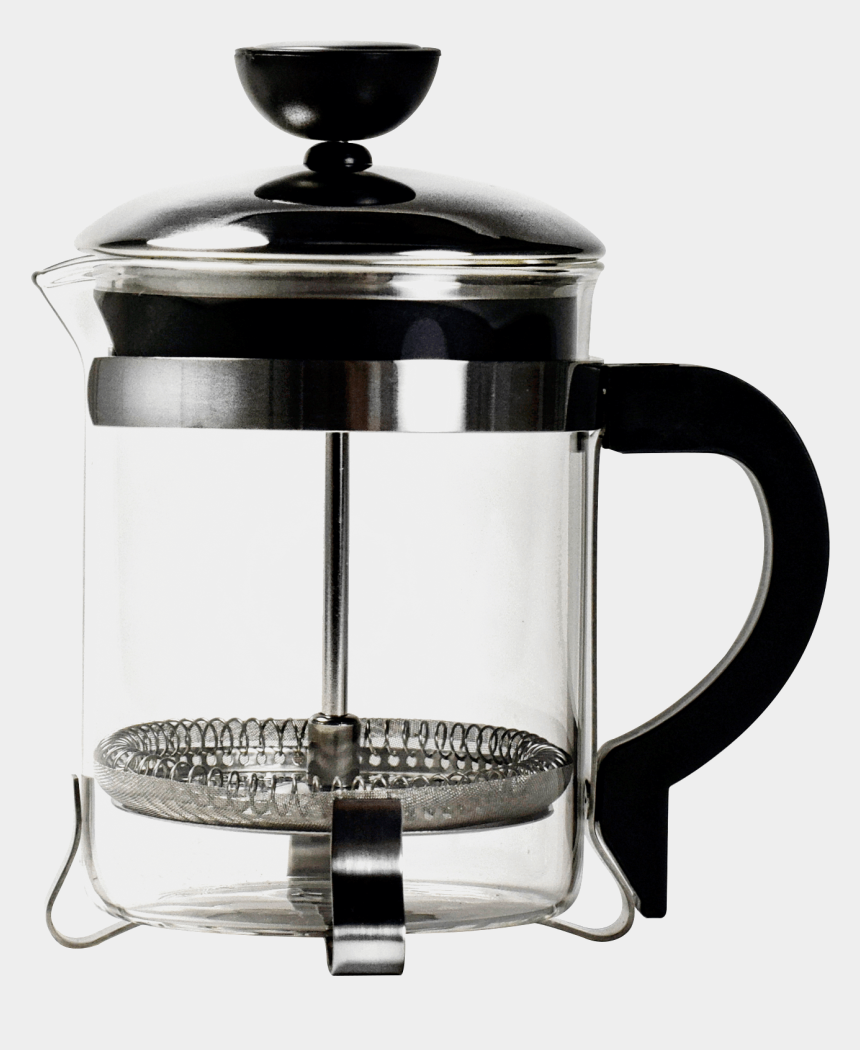 coffee & donuts clipart, Cartoons - 4 Cup Coffee Press No Background - Bodum Coffee Press 4 Cups