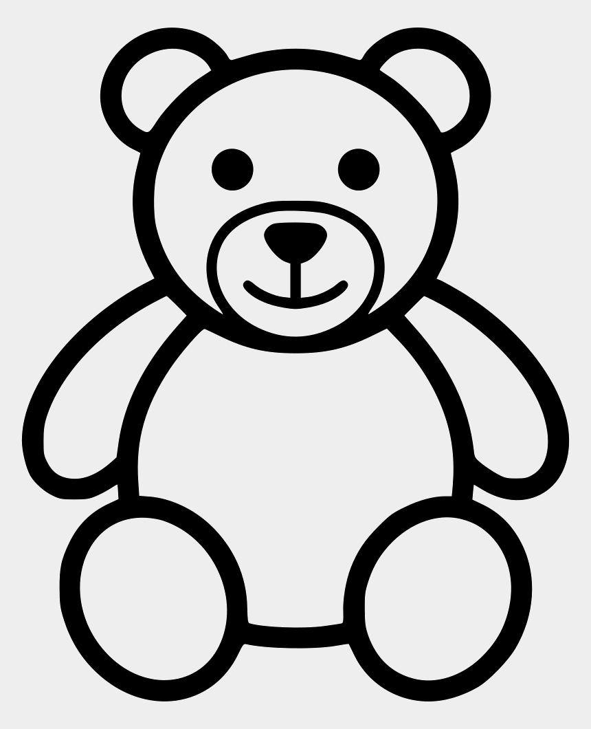 teddies clipart, Cartoons - Teddy Bear Outline Clip Art - Black Teddy Bear Clip Art