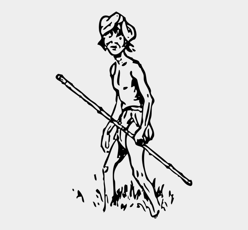 stick person clipart black and white, Cartoons - Man, Stick, Native, Walk, Arrow, Tracker - Indigenous People Clip Art Black And White