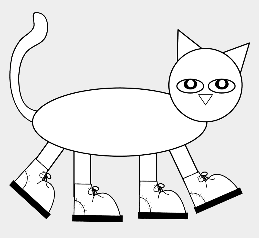 pete the cat clipart, Cartoons - Pete The Cat Pattern To Color, Cut, And Assemble Children - Free Coloring Pictures Of Pete The Cat