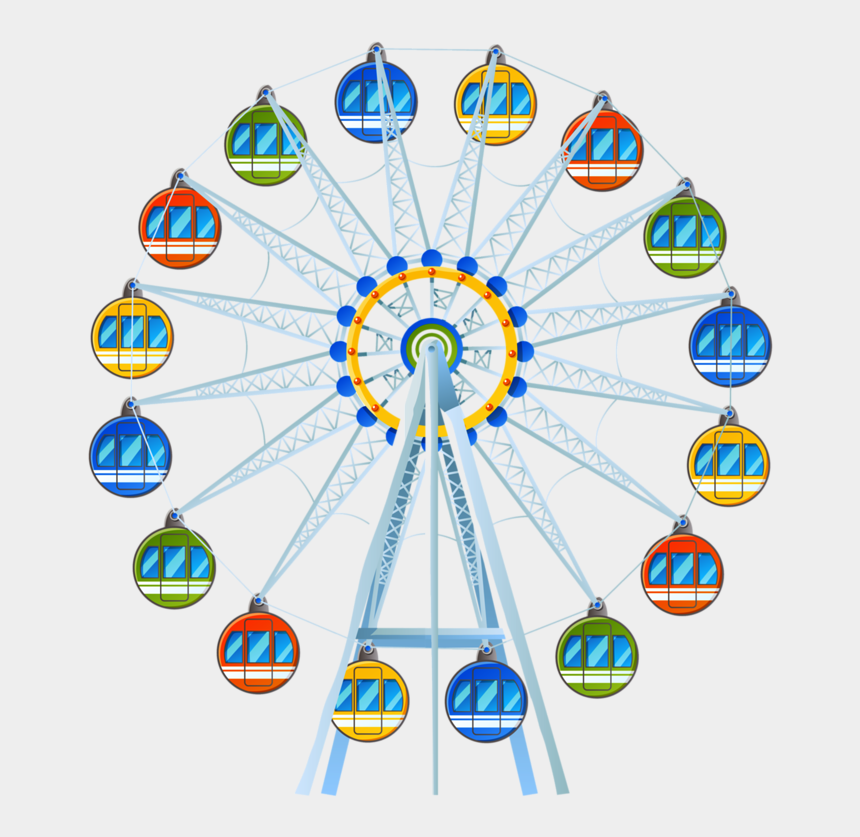 ferris wheel clipart, Cartoons - Фото, Автор Soloveika На Яндекс - Circle Of Paw Prints