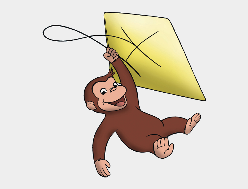 george washington clipart, Cartoons - Curious George - Curious George Flying A Kite