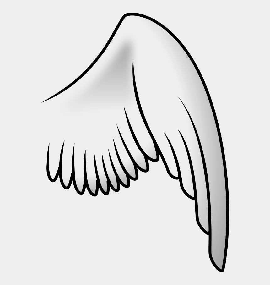 angel wings clipart, Cartoons - Angel Wing Right - Bird Wing Clipart